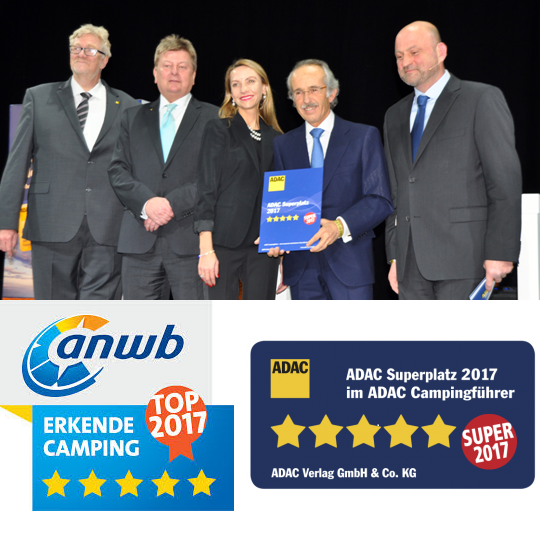 Best Camping 2017 ANWB y ADAC Meilleur Camping